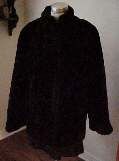 Soft Deep Brown Seal Jacket - Size Small