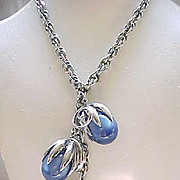 Fabulous Napier Cumquat Necklace Blue Moonglow
