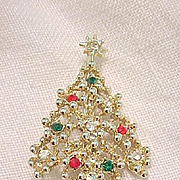 Eisenberg Ice Christmas Tree Pin - on Original Card
