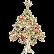 Eisenberg Ice Christmas Tree Pin - on Original Card