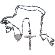 Beautiful Sterling Silver Rosary - Dated 1949