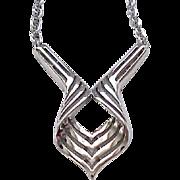 Classy Trifari Silvertone Necklace