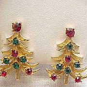 Pair Mylu Christmas Tree Clip Earrings