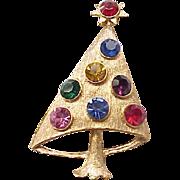 MOD Christmas Tree pin - Sparkling Rhinestones