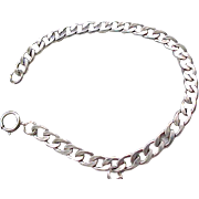 Sturdy Sterling Silver Starter Charm Bracelet - One Charm