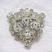 Sparkling Juliana Diamante Rhinestone Brooch Pin