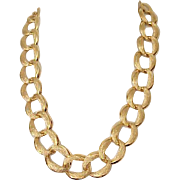 Beautiful Napier Chunky Goldtone Necklace