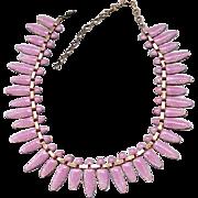 Superb Matisse Pink Nefertiti Necklace