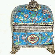Emaux De Louviere Pottery Box or Casket