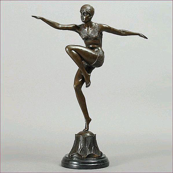 Ferdinand Preiss Art Deco Bronze Sculpture 'Con Brio' From