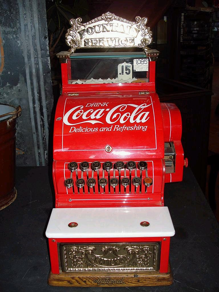 National Cash Register Advertising Coca Cola From