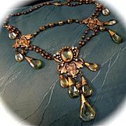 Glamorous Czech Art Nouveau Style Necklace