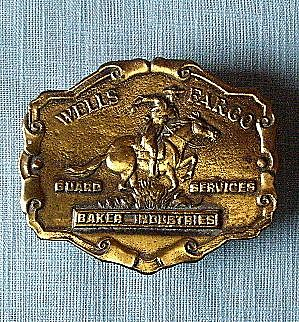 Tiffany England Bronze Wells Fargo Belt Buckle