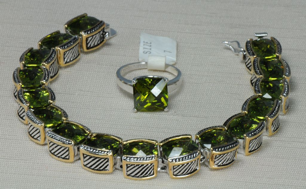 John Hardy Style Peridot Bracelet And Ring From