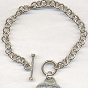 Sterling Tiffany & Co. New York Token Charm Bracelet