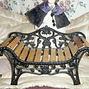 Cast Iron Victorian Doll Bench