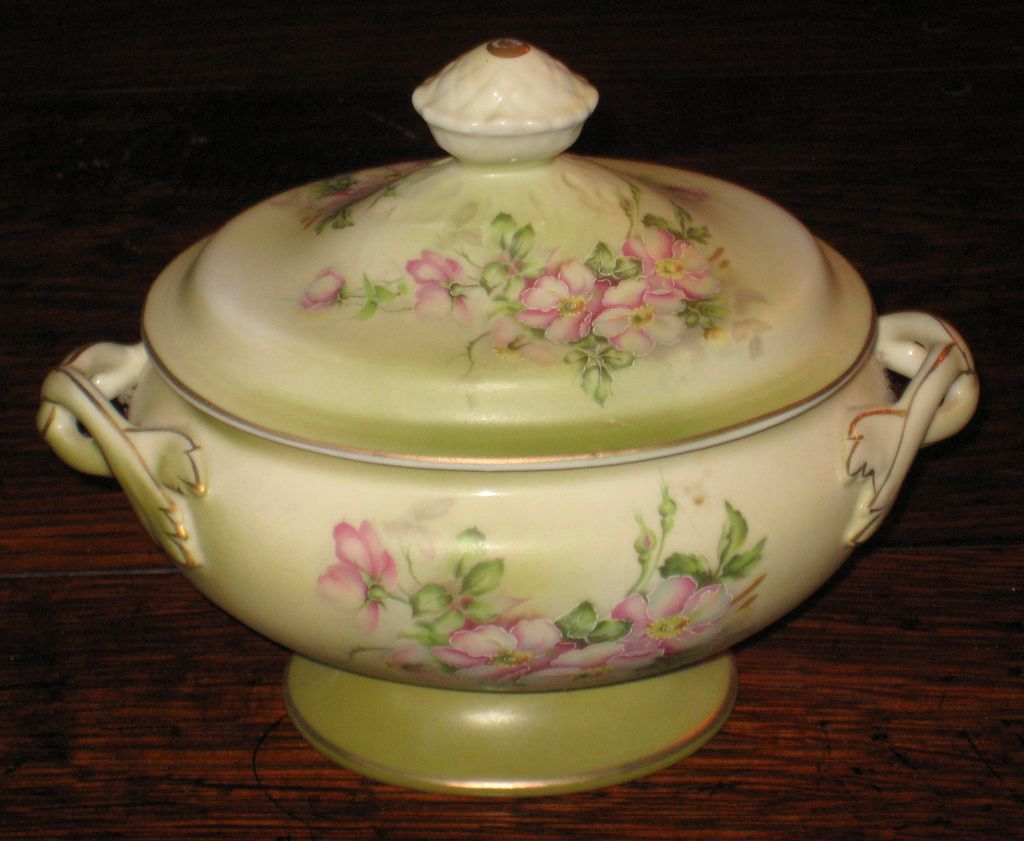 Floral Tureen Hand-Painted Nippon