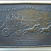 Brass Wells Fargo & Co Since 1852 Belt Buckle