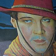 1924 Rudolph Valentino Movie Poster 'The Sainted Devil'