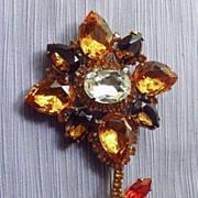 Fantasy Husár.D / Husar Czech Rhinestone Flower Brooch