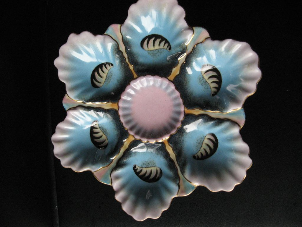 Oyster Dish or Plate Marked Limoges