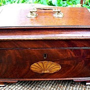 Mahogany Tea Box with Marquetry