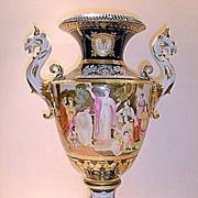 Sèvres Porcelain Urn with Figural Handles