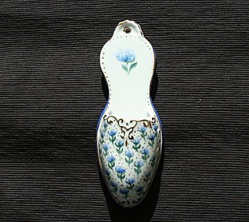 Blue Flowers Wall Pocket - Marked Limoges China