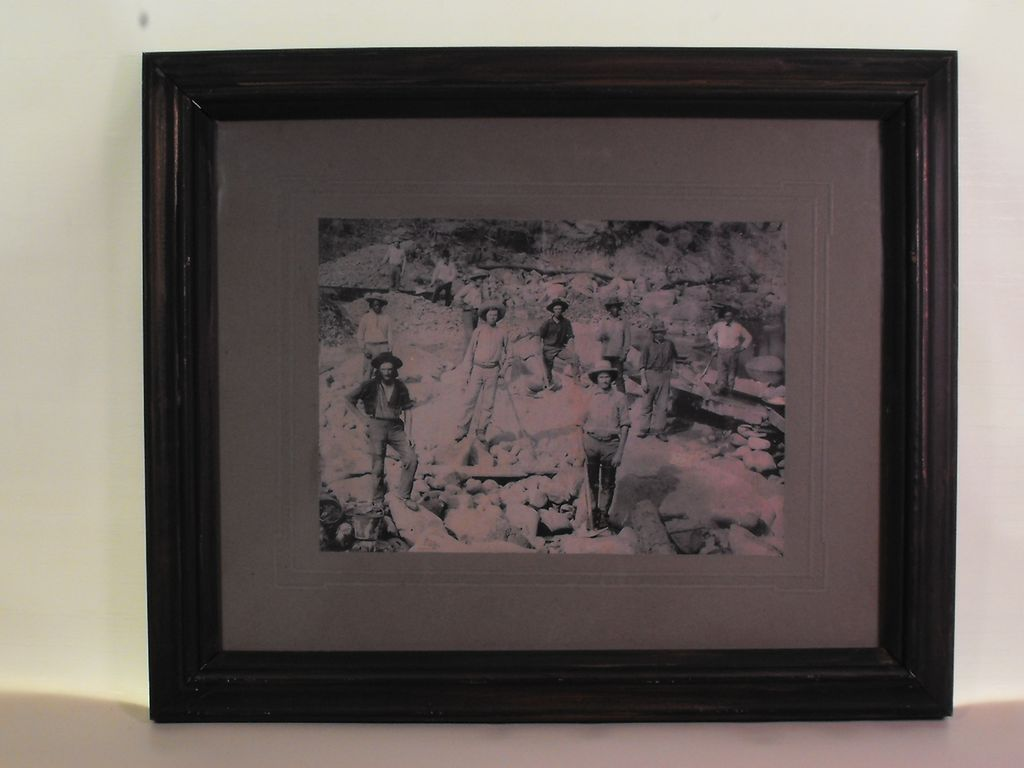Framed Gold Miners Prospectors Photograph