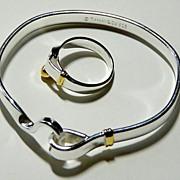 """Bangle Bracelet and Ring Marked """"Tiffany"""""""