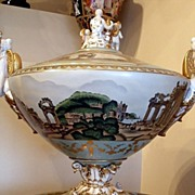 Large  Decorative Centerpiece with Cover and Base Marked with Sevres Crossed L's
