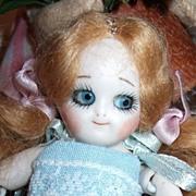 """Tiny 4 1/2"""" Googly Doll"""