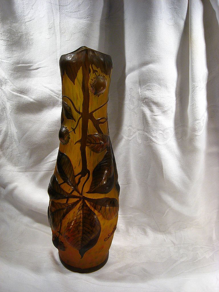 Galle Tip Amber Glass Vase