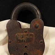 Iron Pony Express Padlock With Key