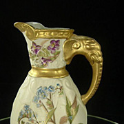 Elephant Handle Porcelain Jug
