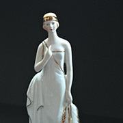 Porcelain Flapper Figurine Hallmarked KPM Berlin