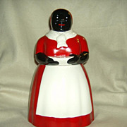 Red and White Ceramic Aunt Jemima Cookie Jar