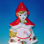 Red Riding Hood Character Cookie Jar Marked McCoy