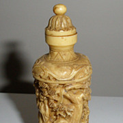 Asian Carved Ivory Snuff Bottle