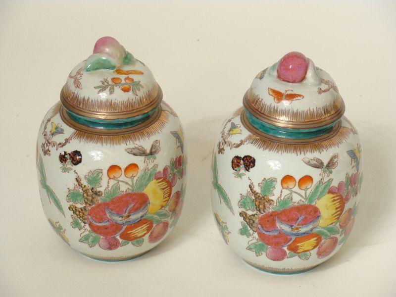 Vintage Samson Polychrome Porcelain Ginger Jars
