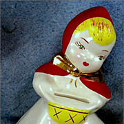 Ceramic Little Red Riding Hood Still Coin Bank
