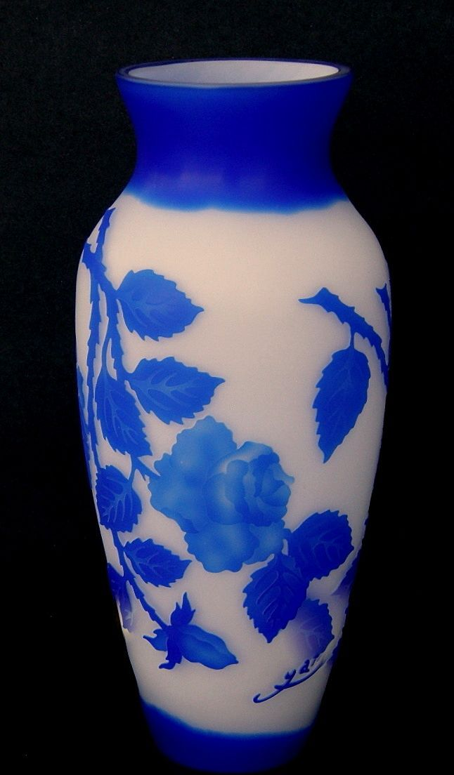Cameo Art Glass Vase Marked Galle From Rlreproshop On Ruby