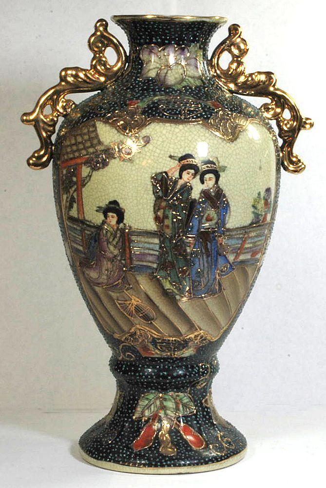 Chinese Satsuma Vase Marked Royal Satsuma From Rlreproshop On Ruby Lane