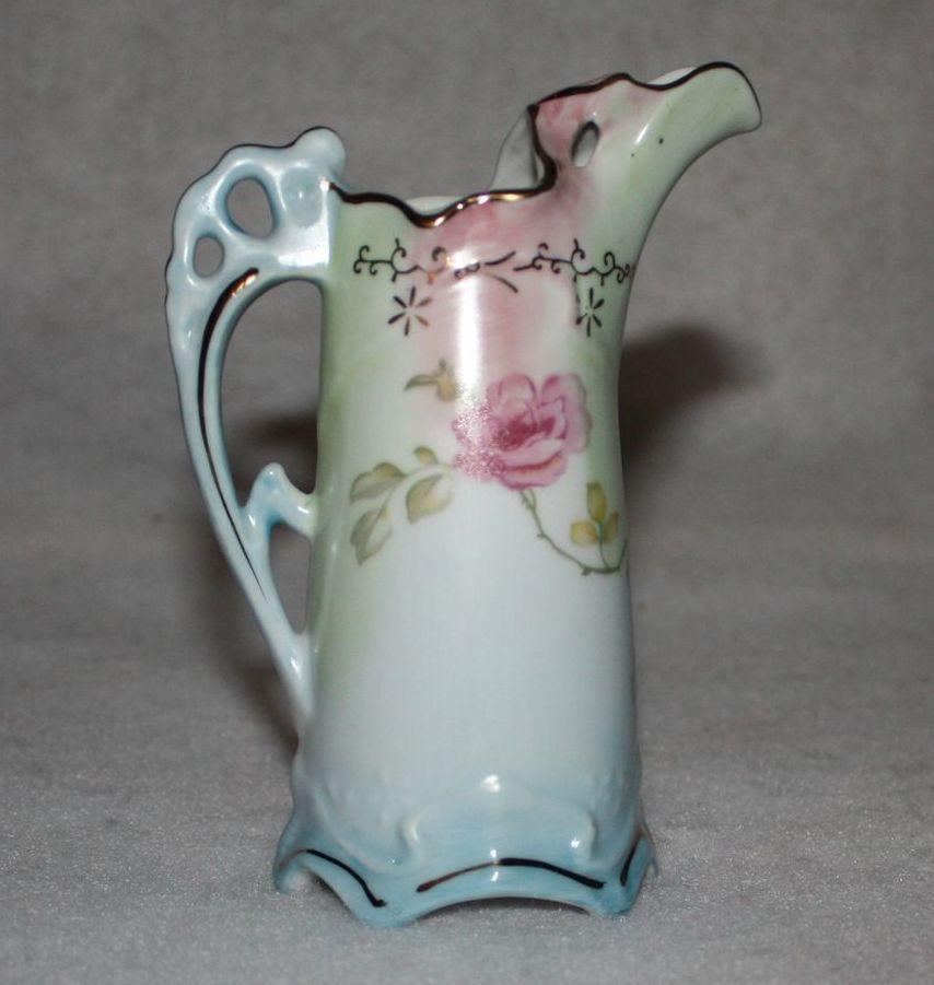 Pastel Ewer Vase Pitcher Marked R S Prussia