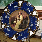 "Royal Vienna Portrait Mother & Child 12"" Charger Plate MINT"