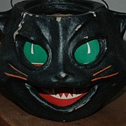 Black Cat Jack O'Lantern for Halloween