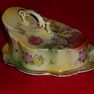 Porcelain Cheese Dish and Cover