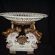 Old Centerpiece Bowl with Cherubs