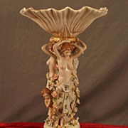 Meissen Three Muses Nude Figural Compote
