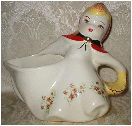 Hull Pottery Little Red Riding Hood Batter Pitcher